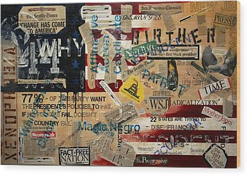 Current Events Wood Print by A Diaz