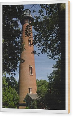 Currituck Beach Lighthouse Wood Print by Frank Wickham