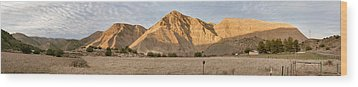 Curry Mountain Panorama Wood Print by Larry Darnell