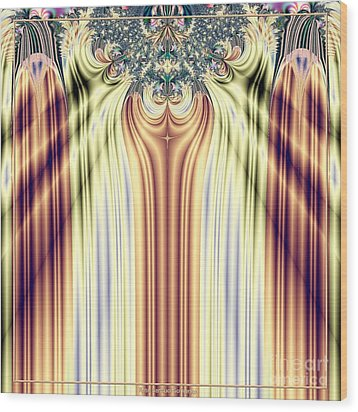 Curtain Call Spotlights Fractal 133 Wood Print by Rose Santuci-Sofranko