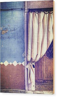Curtain Wood Print by Joana Kruse