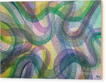 Curvy Wood Print by Holly York