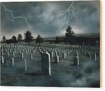 Custer's Last Stand - Battle Of Little Big Horn Wood Print by Elizabeth Hart