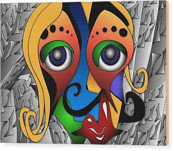 Cyborg Wood Print by Artzilla Ink