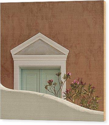 Cycladic Architecture Wood Print by Manolis Tsantakis