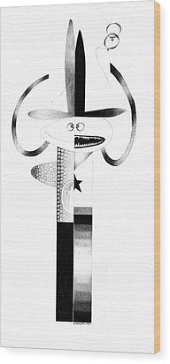 Cycloptic Identity Crisis  Wood Print by Tony Paine