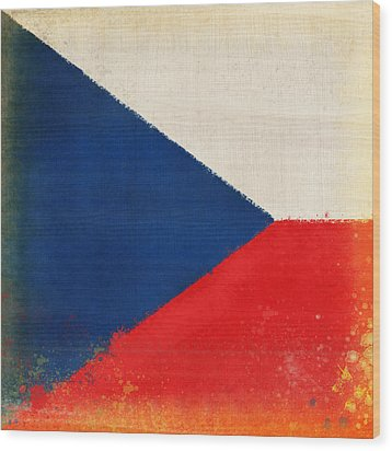 Czech Republic Flag Wood Print by Setsiri Silapasuwanchai