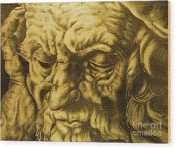 Da Vinci Sketch Wood Print by Pg Reproductions
