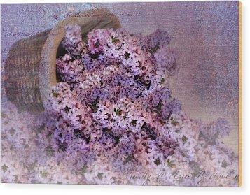 Daddy's Lilacs Series II Wood Print by Kathy Jennings