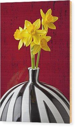 Daffodils Wood Print by Garry Gay
