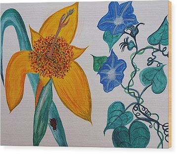 Daffyclem Wood Print by Joy Sparks