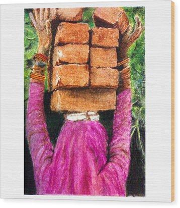 Daily Wage Wood Print