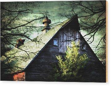 Dairy Barn Wood Print by Julie Hamilton