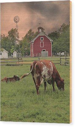 Dairy Farm Wood Print