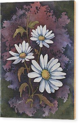 Daisies IIi Wood Print by Sam Sidders