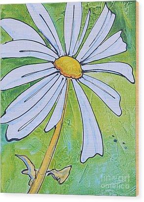 Daisy Face Wood Print