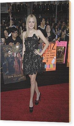 Dakota Fanning Wearing A Valentino Wood Print by Everett