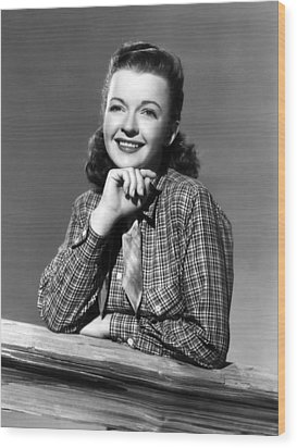 Dale Evans 1912-2001, American Actress Wood Print by Everett