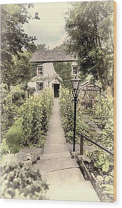 Wood Print featuring the photograph Dales Cottage Yorkshire by Jack Torcello