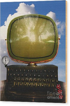 Dali.s Surreal Steampunk Personal Computer With Upgrades Wood Print by Wingsdomain Art and Photography