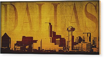 Dallas Wood Print by Ricky Barnard