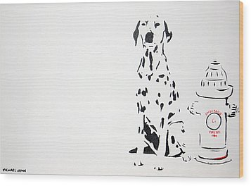 Dalmatian Wood Print by Michael Ringwalt