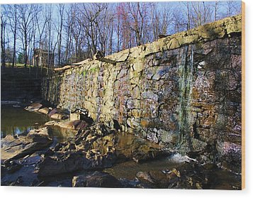 Wood Print featuring the photograph Dam On The River Haw by Bob Whitt