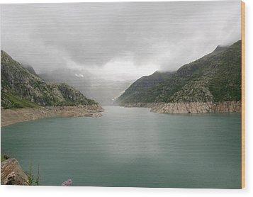 Dam Reservoir Wood Print by Michael Szoenyi