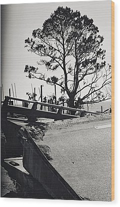 Damaged Bridge Wood Print by Floyd Smith