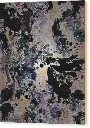 Damask Tapestry Wood Print by Paula Ayers