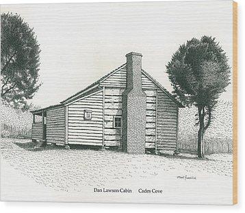 Dan Lawson Cabin Wood Print by Mark Froehlich