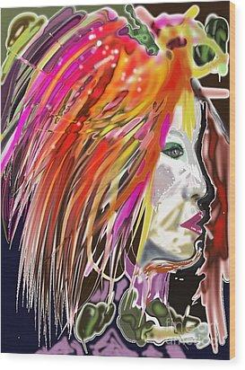 Dana Wood Print by Myrtle WILSON