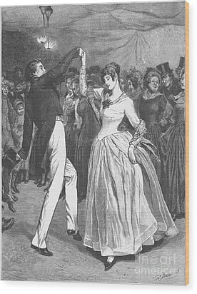 Dance, 19th Century Wood Print by Granger
