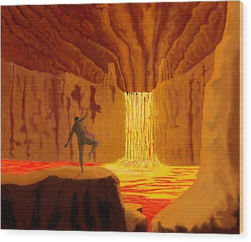 Dance In Hell Wood Print by Tim Stringer