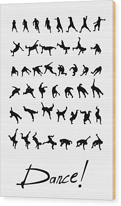 Dance Wood Print by Netta Canfi