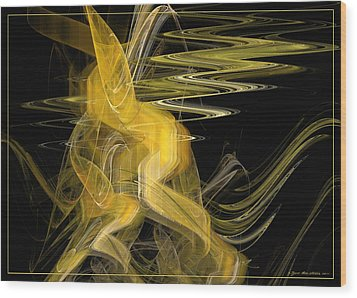 Wood Print featuring the digital art Dance Of Waves by Sipo Liimatainen