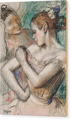 Dancer Wood Print by Edgar Degas
