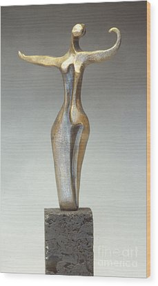 Dancer Wood Print by Judith Birtman