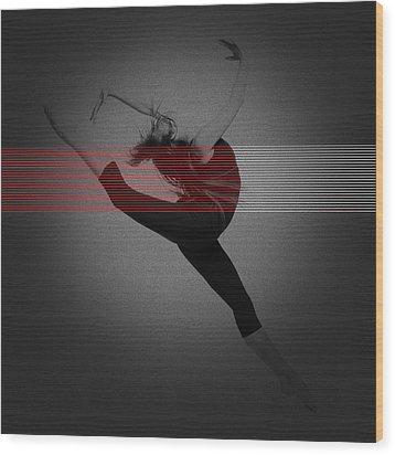Dancer Wood Print by Naxart Studio