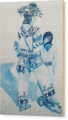 Dancer Wood Print by Unique Consignment