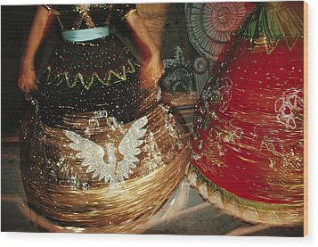 Dancers Whirl In Sequined Dresses Wood Print by Sisse Brimberg