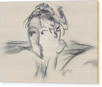 Dancing Face Wood Print by Karen A Robinson
