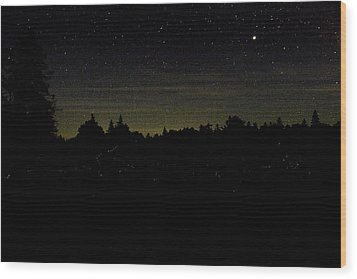 Dancing Fireflies Wood Print by Brent L Ander