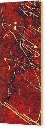 Wood Print featuring the painting Dancing Gold by Carolyn Repka