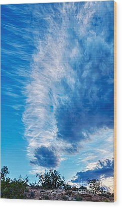 Dancing Light And Clouds 2 Wood Print by Scotts Scapes