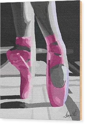 Dancing On Pink Satin Wood Print by Lance  Kelly
