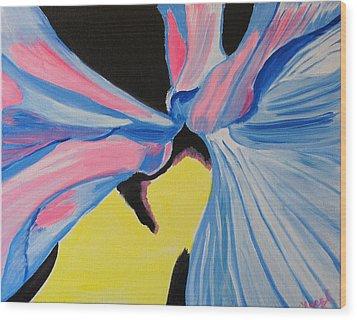 Dancing Petals Wood Print by Meryl Goudey