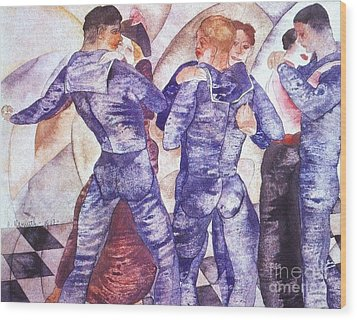 Dancing Sailors Wood Print by Pg Reproductions
