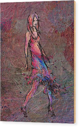 Dancing The Nights Wood Print by Rachel Christine Nowicki