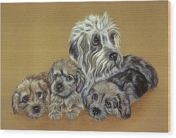 Dandie Dinmont Terriers Wood Print by Patricia Ivy
